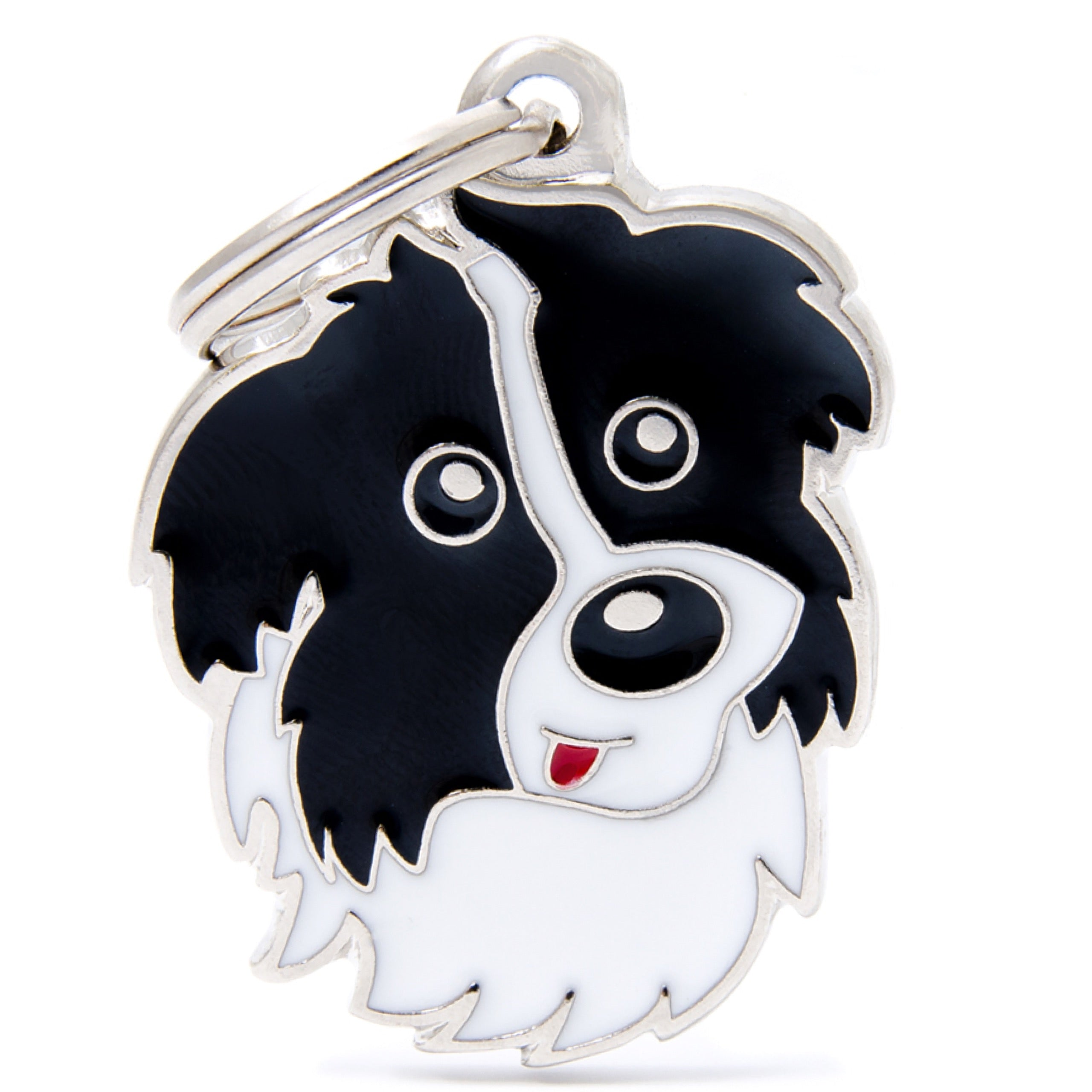 My family friends border collie id tag charm all things canine my family friends border collie id tag charm sciox Choice Image