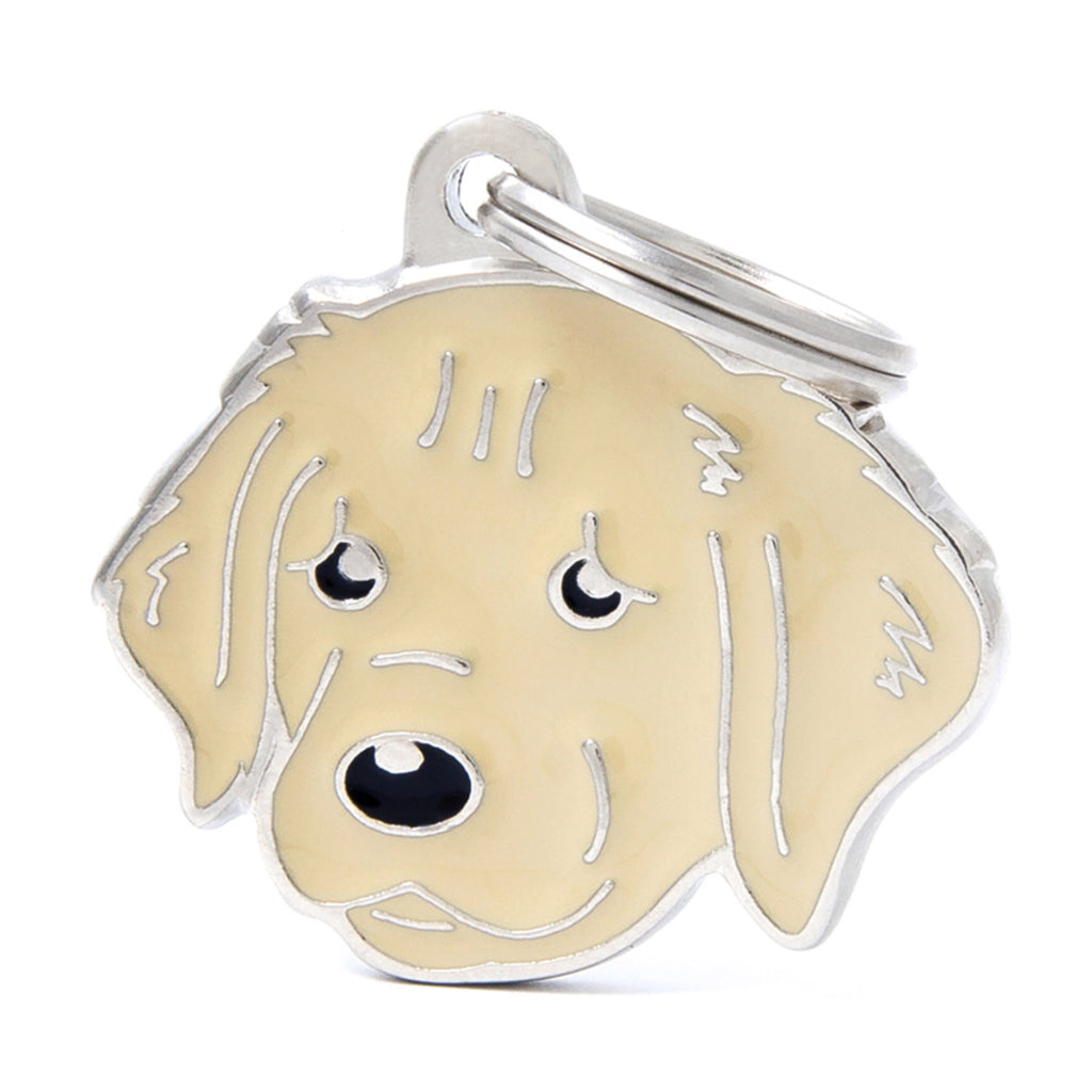 My Family Friends Golden Retriever ID Tag Charm