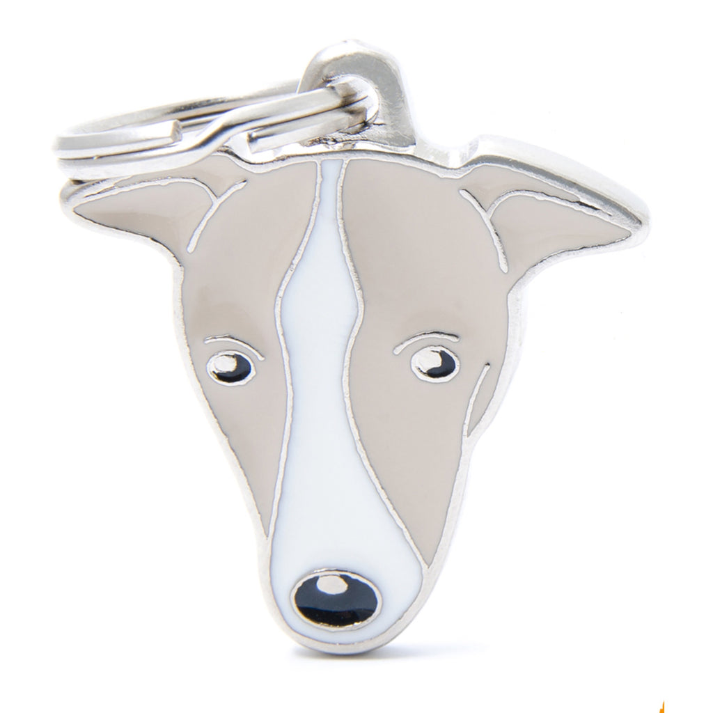 My Family Friends Greyhound ID Tag Charm