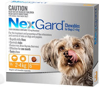 NexGard Chewables Yellow Small 2-4kgs 6pk