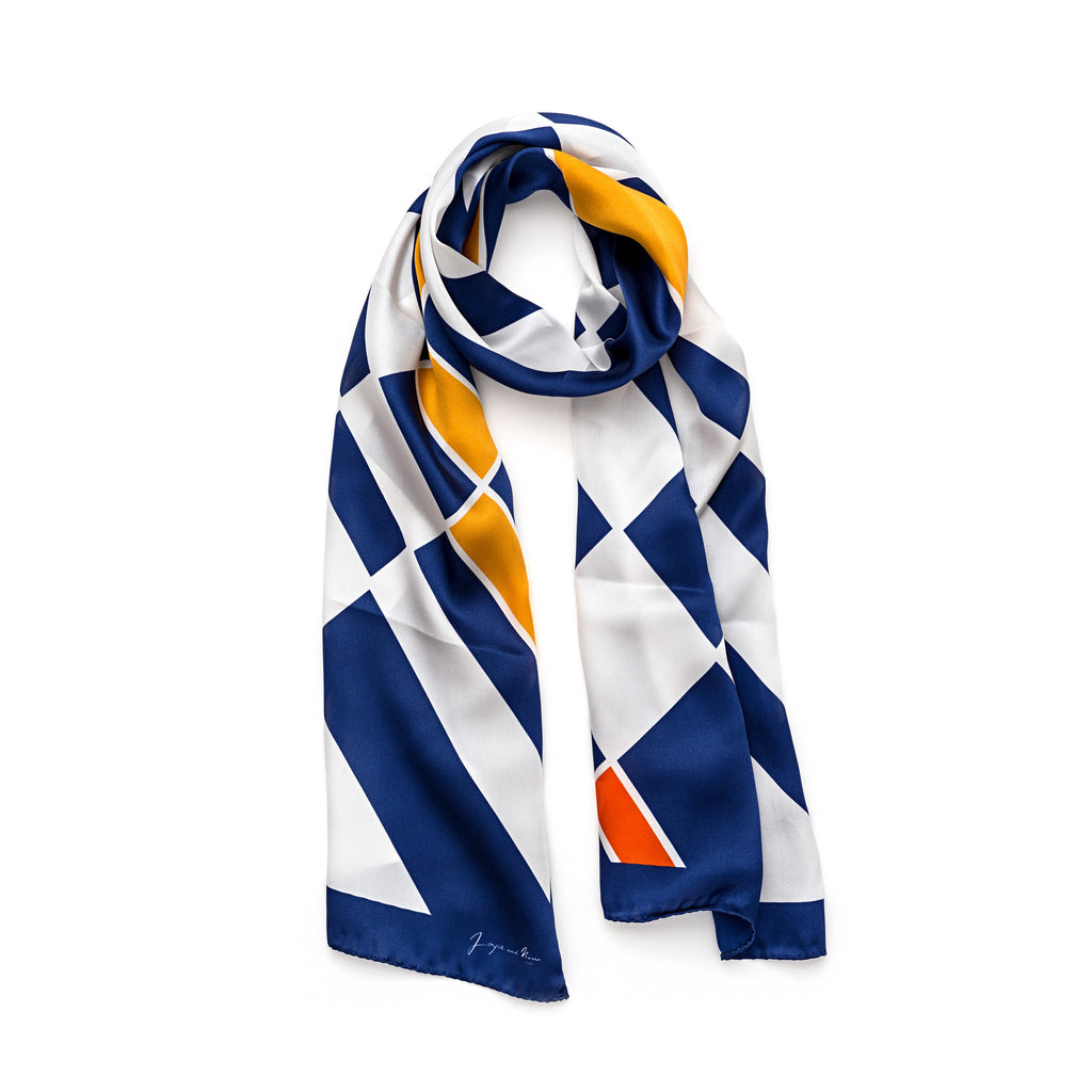 Long Classic Cocktail Silk Scarf