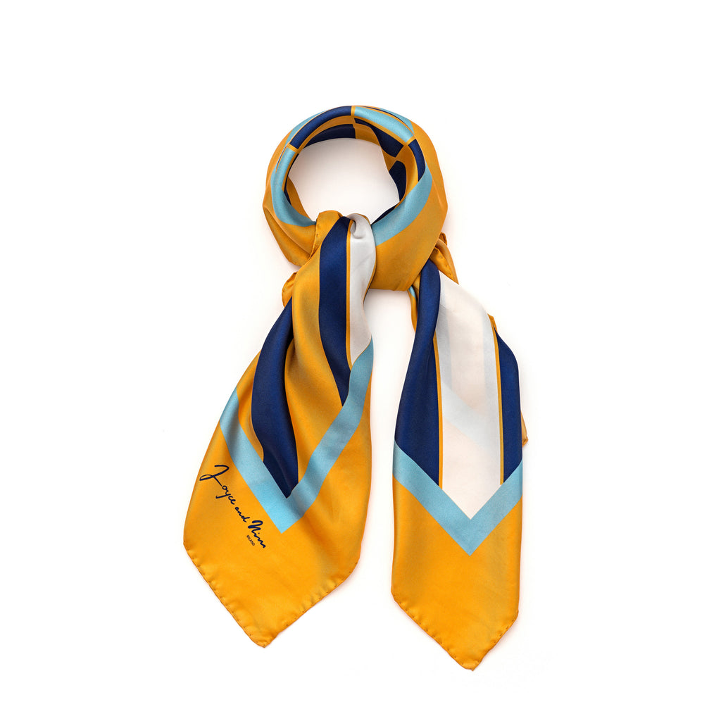 Orange Cocktail Silk Foulard