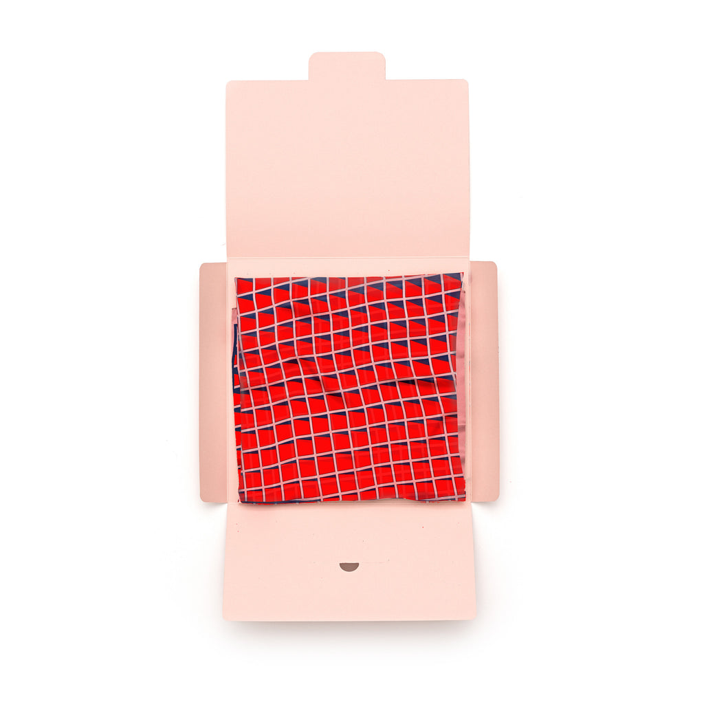 Rose Grid Silk Bandana