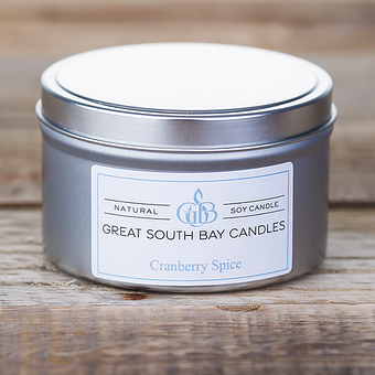 Cranberry Spice | Travel Tin - Great South Bay Candle Company Inc