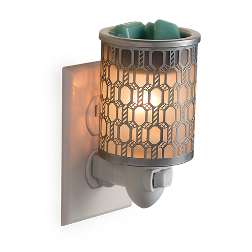 Filigree Plug In Candle Melt Fragrance Warmer - Great South Bay Candles- Great South Bay Candles