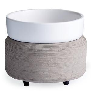 Grey Textured Candle Warmer - Great South Bay Candles
