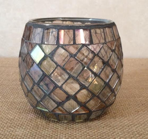 Mosaic Votive Tealight Candle Holder