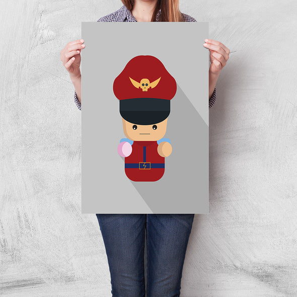 Poster Street Fighter Mini - M. Bison