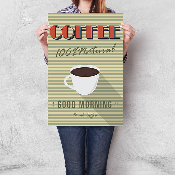 Poster Coffee 100% Natural