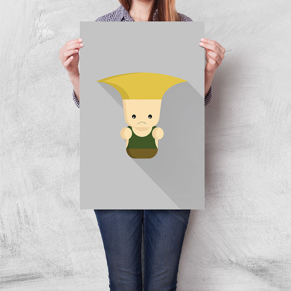 Poster Street Fighter Mini - Guile