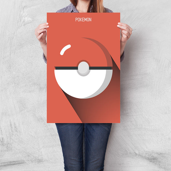 Poster Pokemon - Pokebola Minimalista