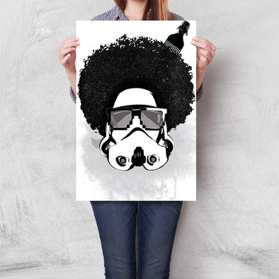 Poster Star Wars - Afro Trooper