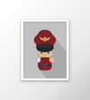 Quadro Street Fighter Mini - M. Bison com moldura branca
