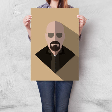 Poster Breaking Bad - Walter White Minimalista (Careca)