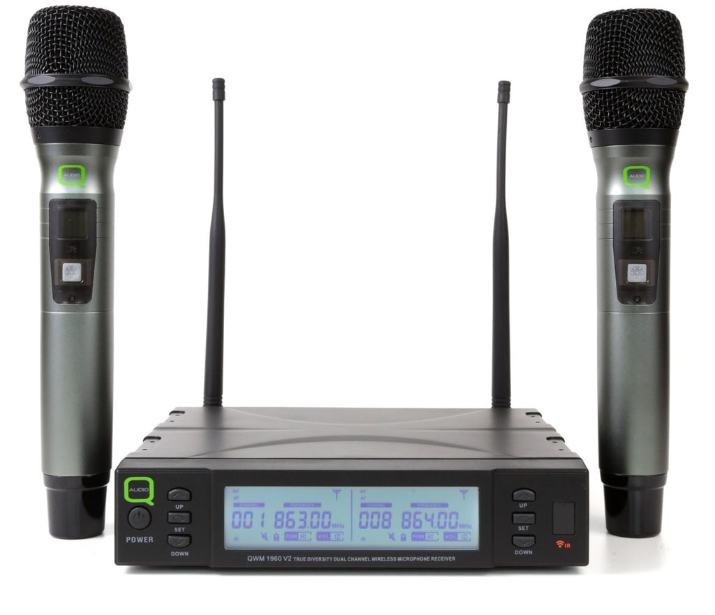 Q-Audio QWM 1960 V2 Handheld Wireless Microphone System
