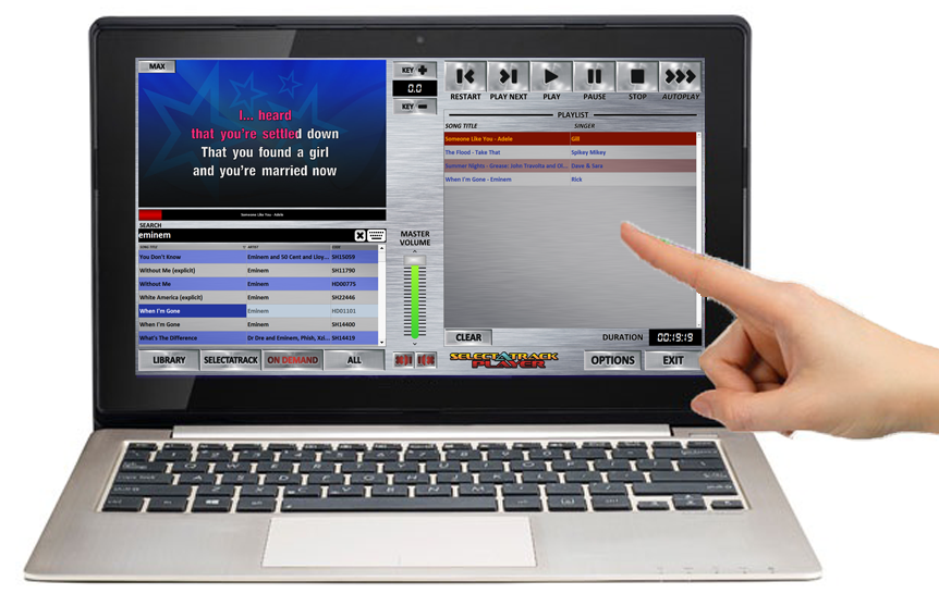 Selectatrack Player - Touchscreen Karaoke Laptop