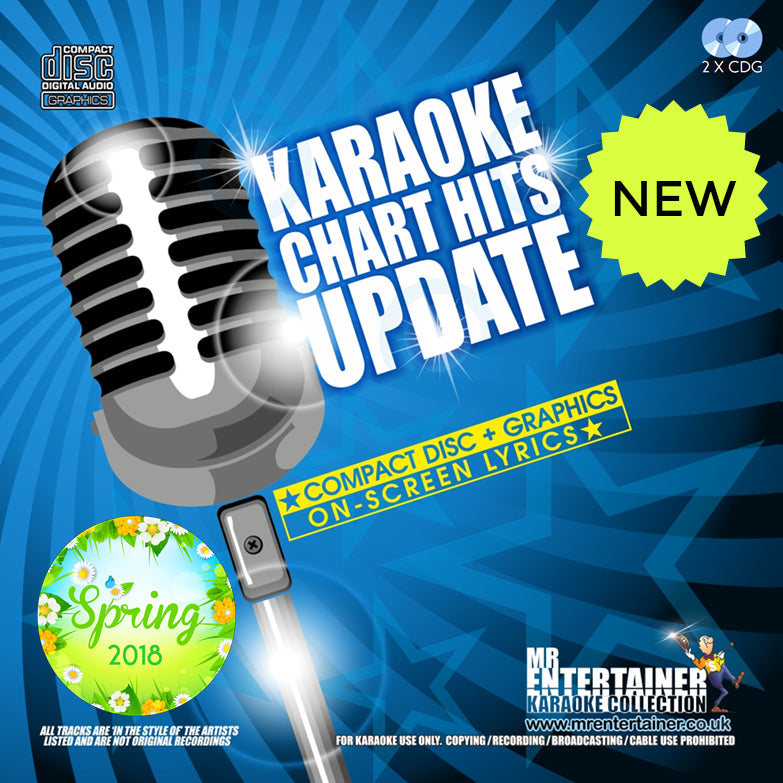 Mr Entertainer Karaoke Chart Hits Update Double CDG Pack Spring 2018 Edition