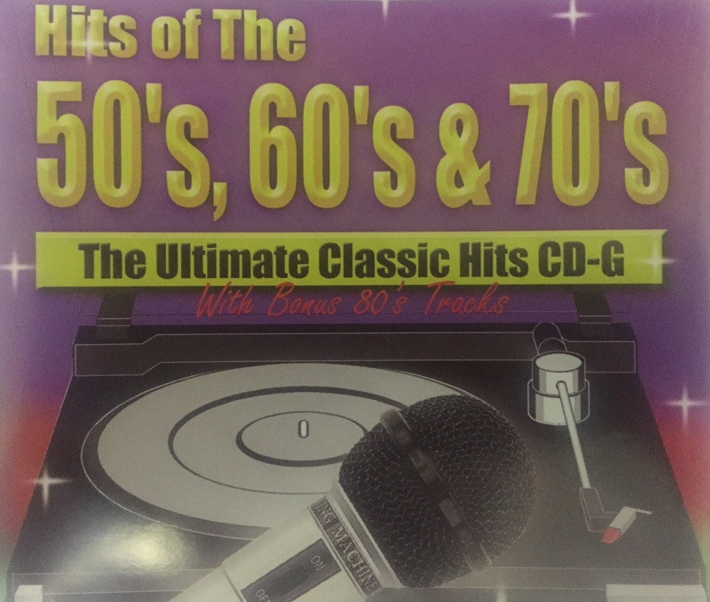 Easy Karaoke CDG Disc Pack - EZKRH - Easy Karaoke Hits of the 50's, 60's, & 70's Disc 1, 2 & 3