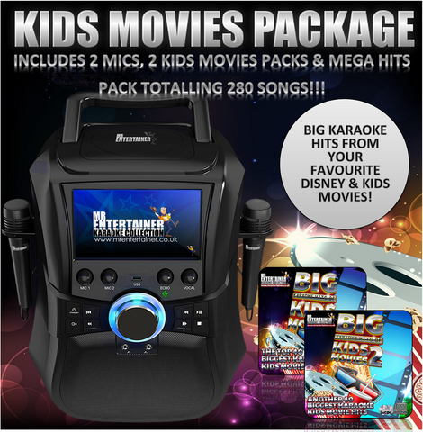 Mr Entertainer Megabox Kids Movies Karaoke Package