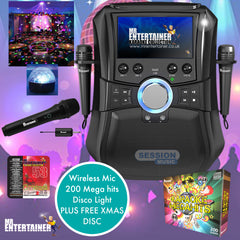 Mr Entertainer Megabox Party Package With Disco Light & Wireless Mic