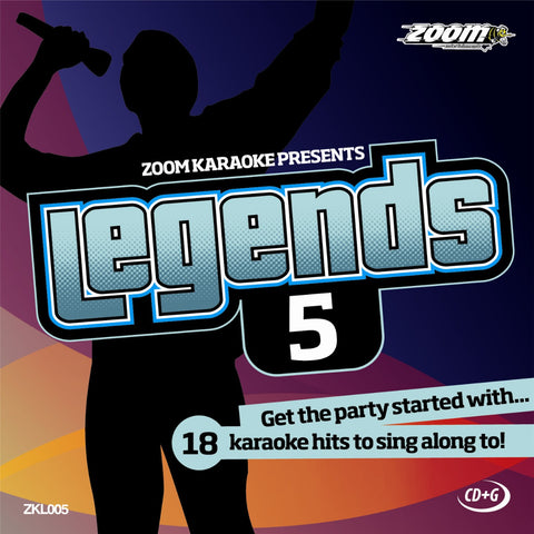 Zoom Karaoke ZKL005 Karaoke Legends 5 Male Karaoke Hits