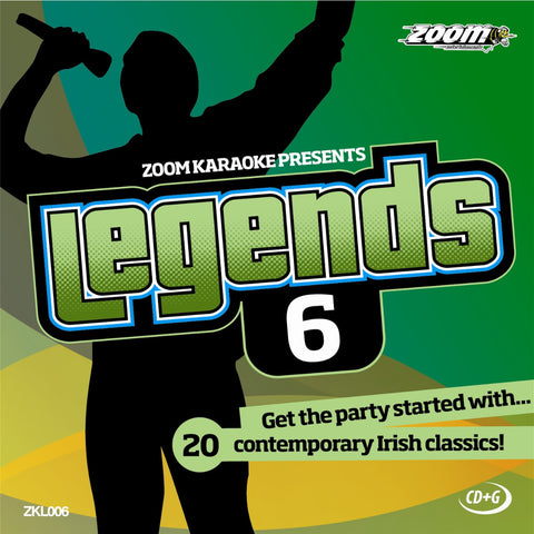 Zoom Karaoke ZKL006 Karaoke Legends 6 Irish Contemporary Classics