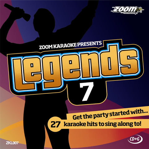 Zoom Karaoke ZKL007 Karaoke Legends 7 Male Karaoke Hits