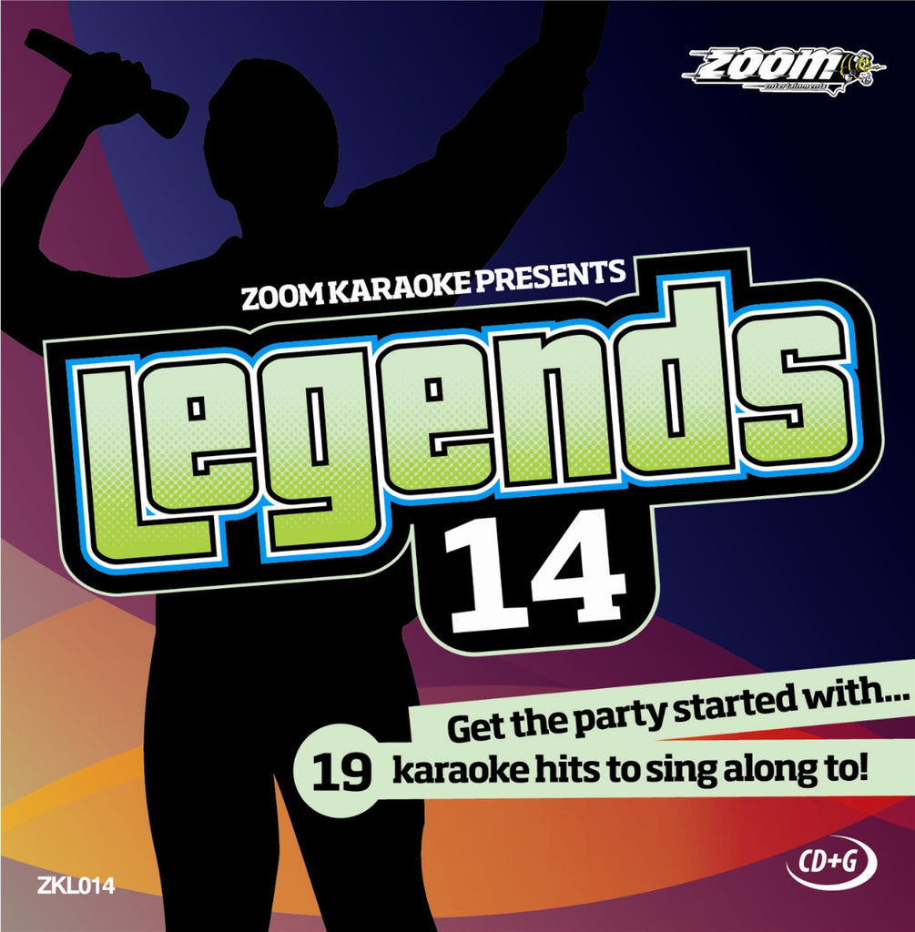 Zoom Karaoke ZKL014 Karaoke Legends 14 Female Hits