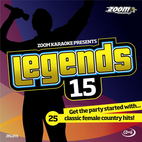 Zoom Karaoke ZKL015 Karaoke Legends 15 Ladies of Country