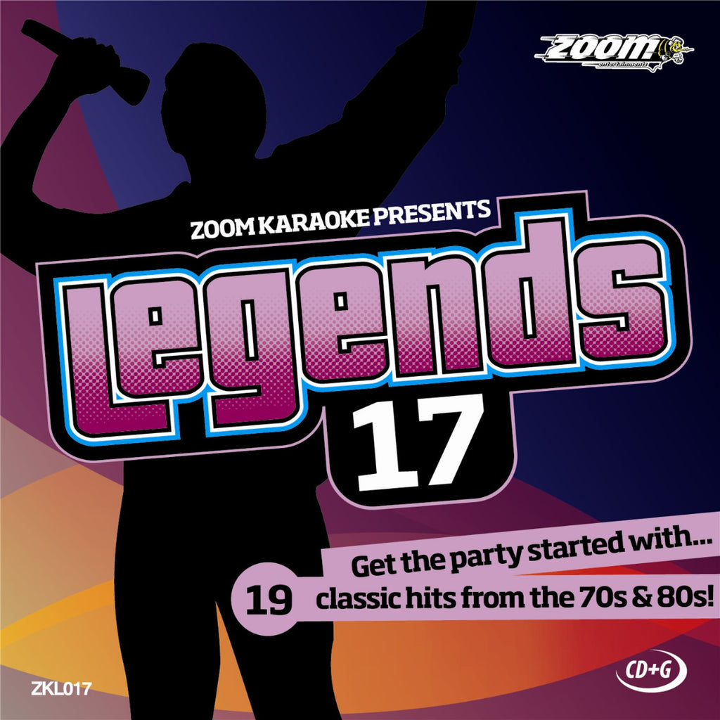 Zoom Karaoke ZKL017 Karaoke Legends 17 70's & 80's