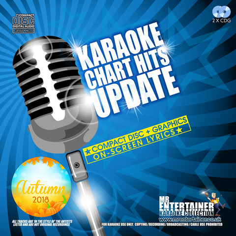 Mr Entertainer Karaoke Chart Hits Update Double CDG Pack - Autumn 2018