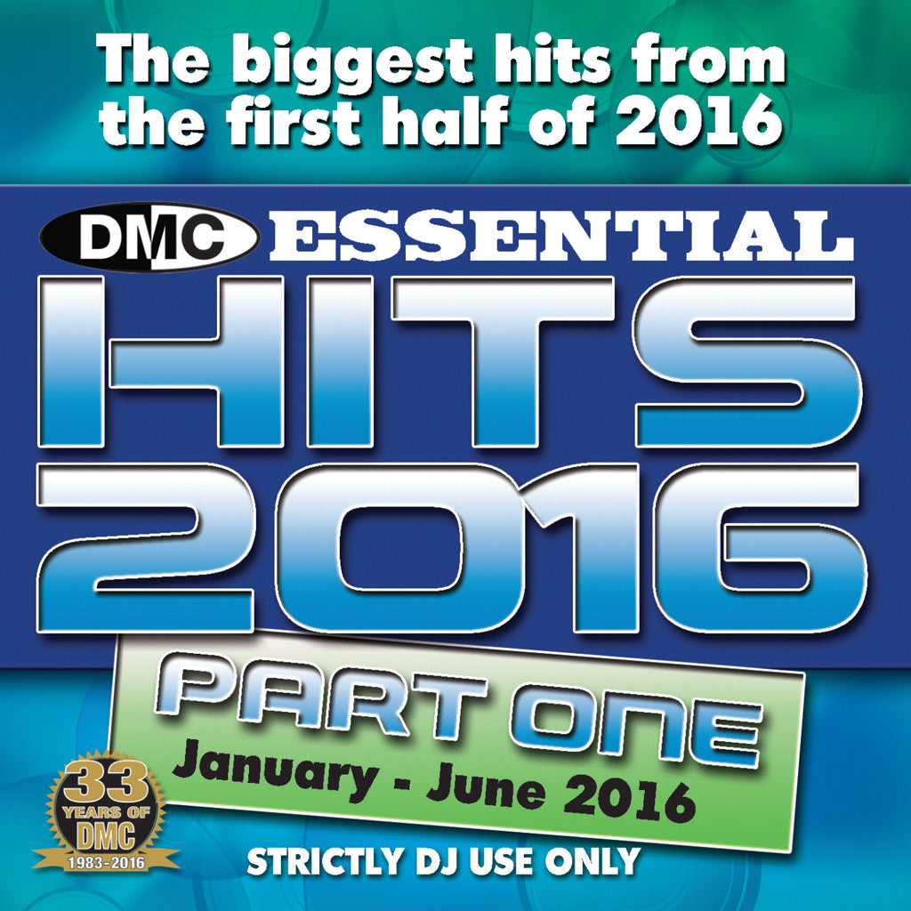 DMC Essential Hits 2016 Part One (Jan - June 2016)