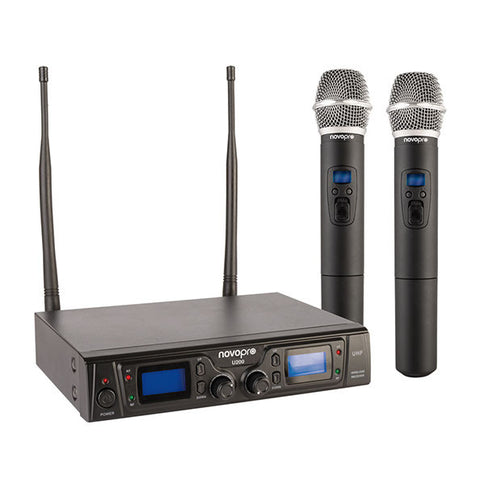 Novopro U200 Twin Handheld Multi Channel UHF Microphone