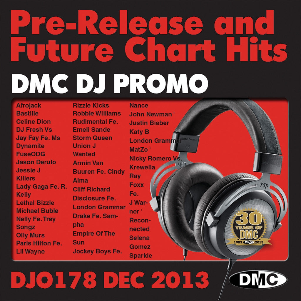 DMC DJ Promo 178 Double CD Compilation December 2013
