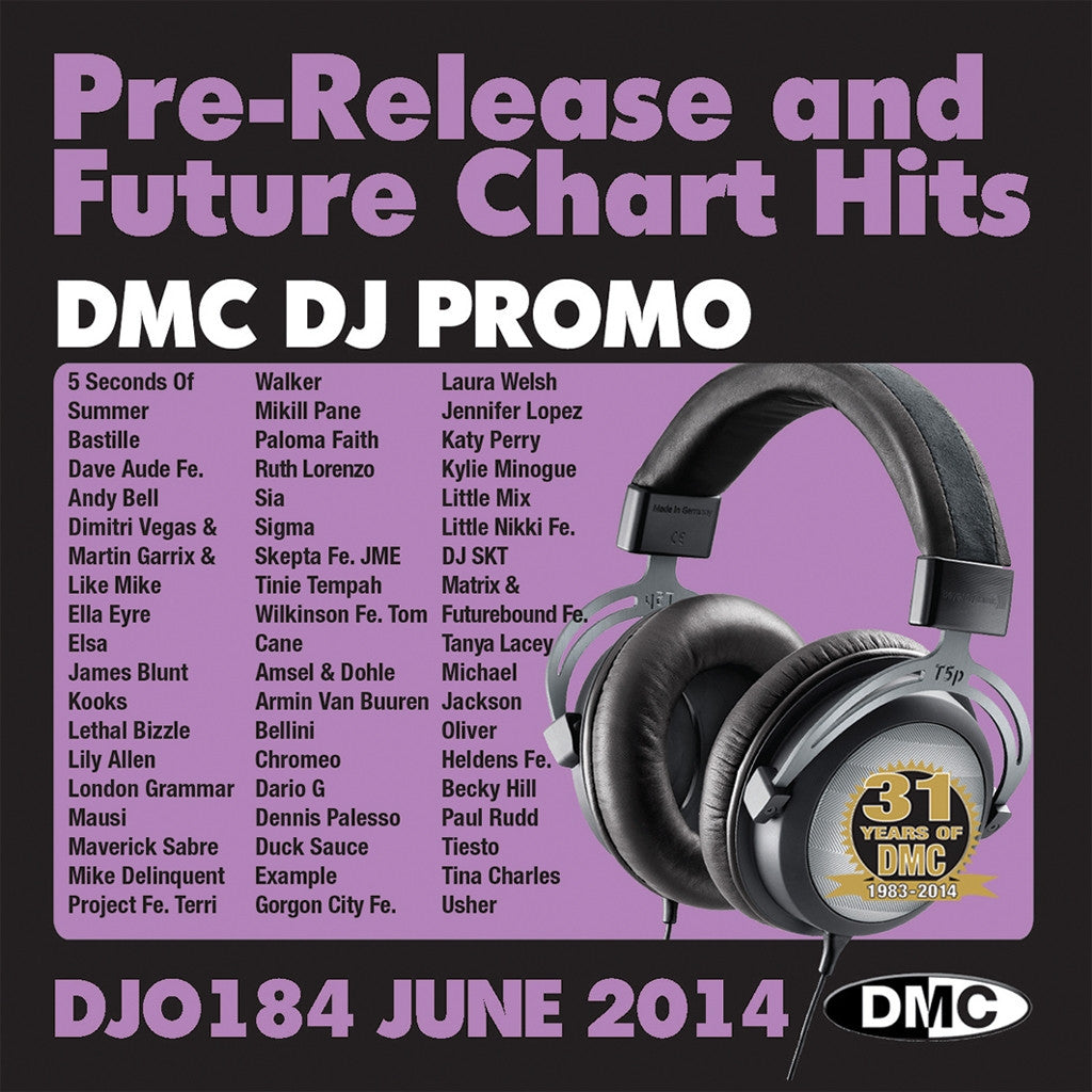 DMC DJ Promo 184 Double CD Compilation June 2014