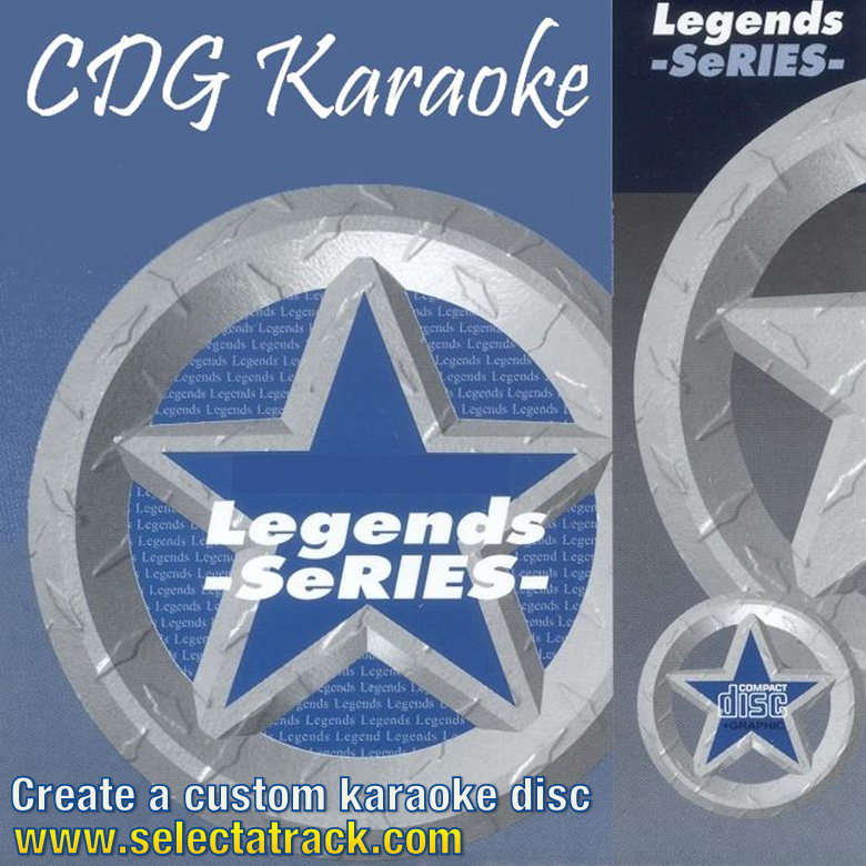 Legends Karaoke CDG Disc LEG101 - TOPS/TEMPTATIONS