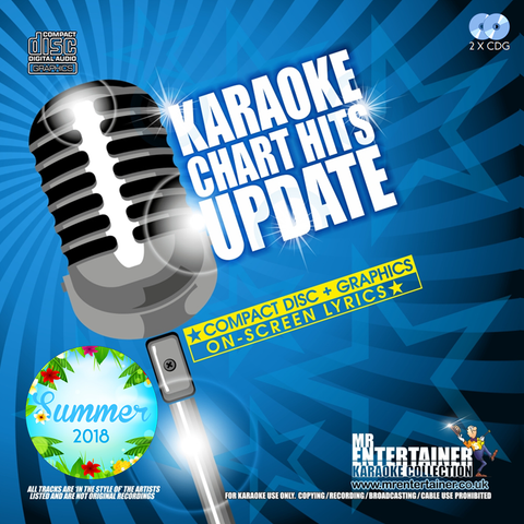 Mr Entertainer Karaoke Chart Hits Update Double CDG Pack - Summer 2018