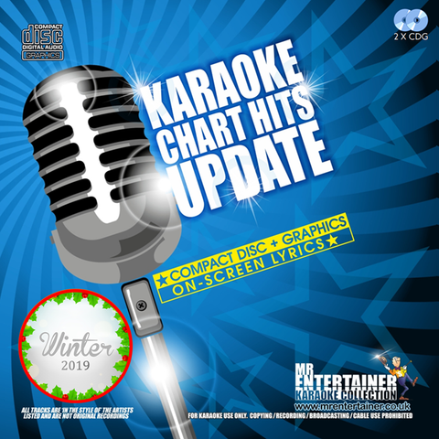 Mr Entertainer Karaoke Chart Hits Update Double CDG Pack - Winter 2019