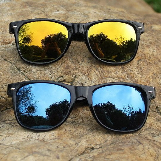 2015 Cool Sunglasses For Men Women Colorful Bright Classical Fashion Summer Oculos Mirror UV Protection Glasses Gafas De Sol