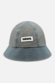 Dry Waxed Bucket Hat Grey/Blue