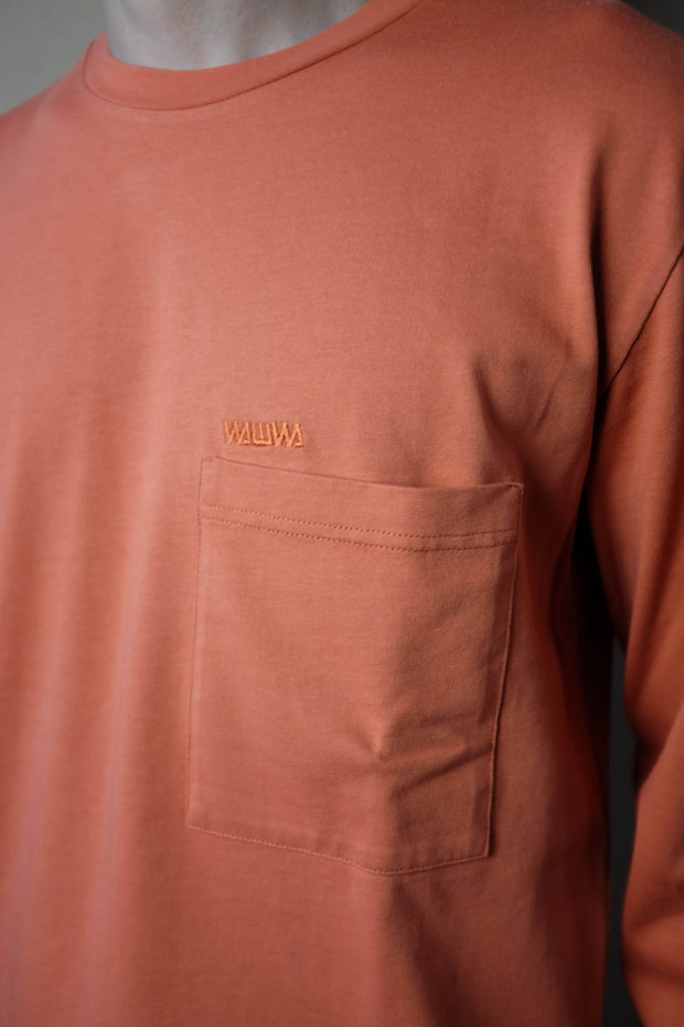 Pocket Longsleeve T-Shirt Rust