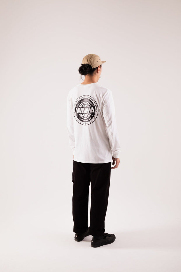 Logo White Long Sleeve Organic T-Shirt