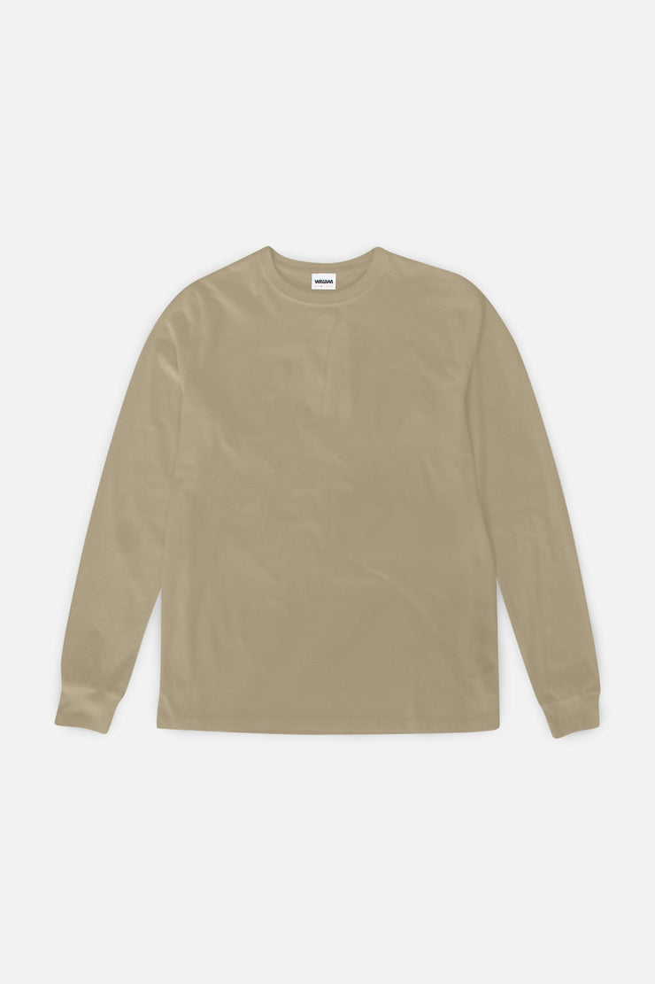 Organic Long Sleeve T-Shirt - Oat