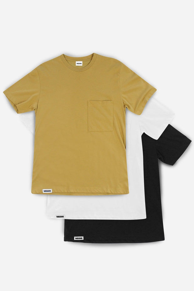Recycled Pocket T-Shirt 3 Pack