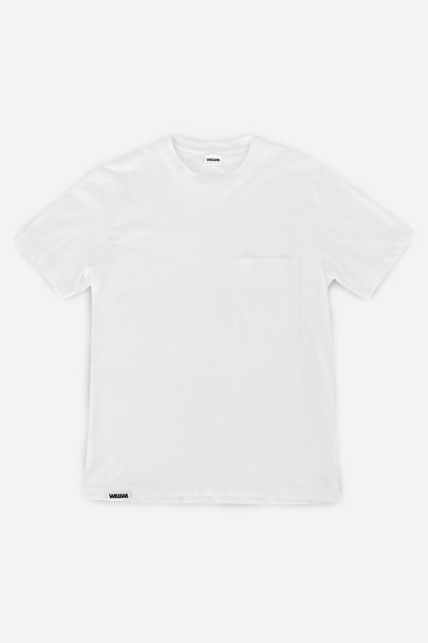 Recycled White Pocket T-Shirt