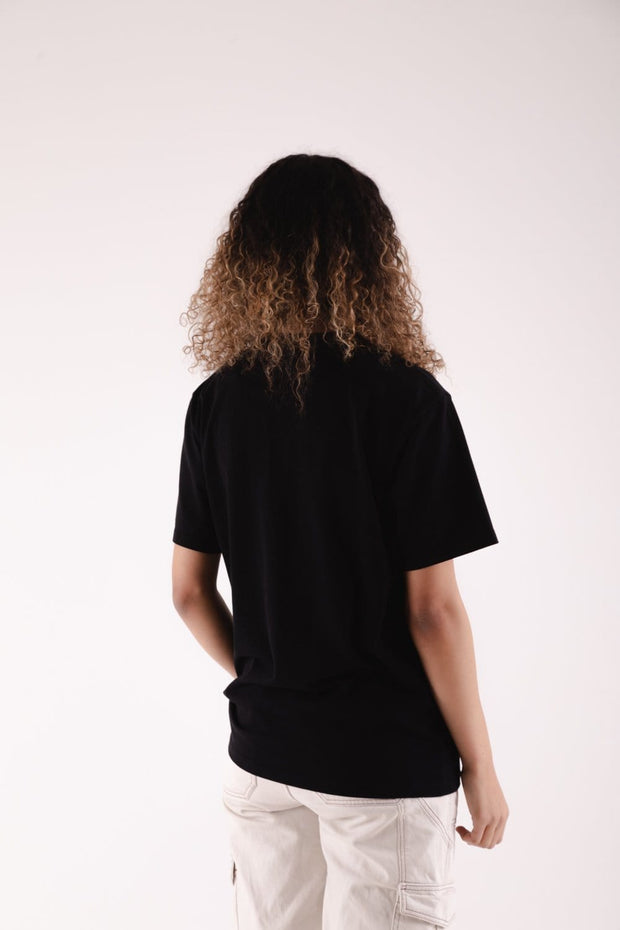 Marble Logo T-Shirt Black