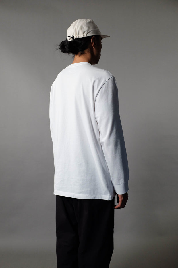 Pocket Longsleeve T-Shirt White