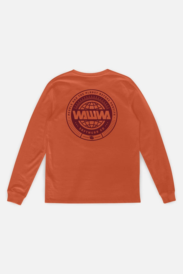 Circle Logo Longsleeve T-Shirt Rust