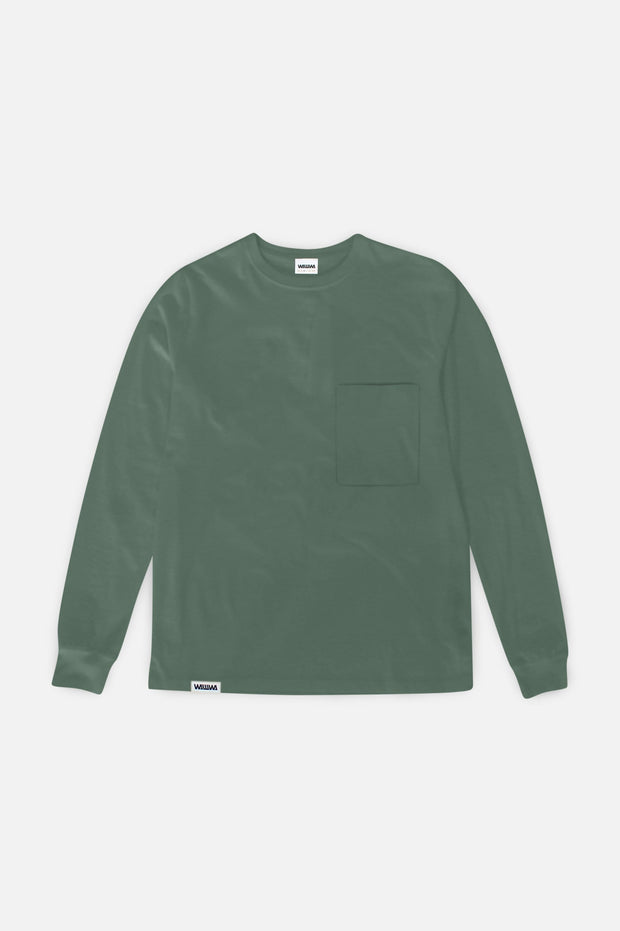 Pocket Longsleeve T-Shirt Sage