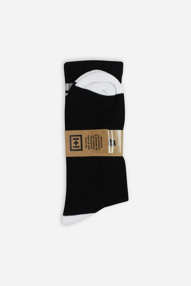 Black + White Organic Sport Socks